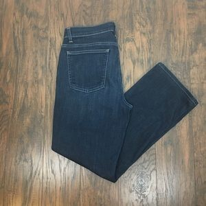 Eileen Fisher Straight Ankle Stretch Denim Jeans 8